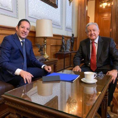 Se reúnen el Gobernador y AMLO