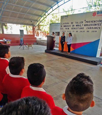 DIF El Marqués concluyó taller de prevención de embarazo adolescente