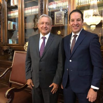 Gobernador de Querétaro se reúne con el Presidente de México