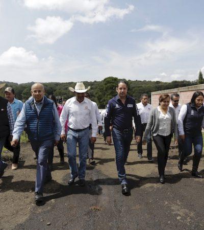 Entrega Gobernador obras en Amealco y Huimilpan
