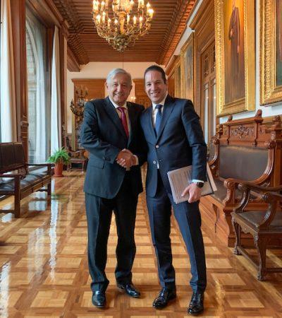 Se reúne Gobernador con el Presidente de la República