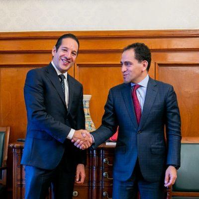 Se reúne Gobernador con titular de Hacienda