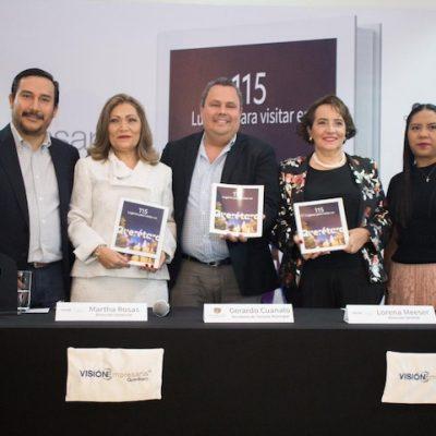 """Lorena Meeser presenta el libro """"115 Lugares para visitar en Querétaro"""""""