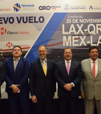 Presentan ruta de carga Los Ángeles–Querétaro