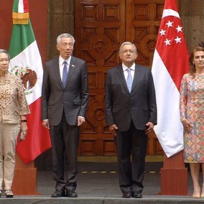 Recibe AMLO visita oficial del primer ministro de Singapur