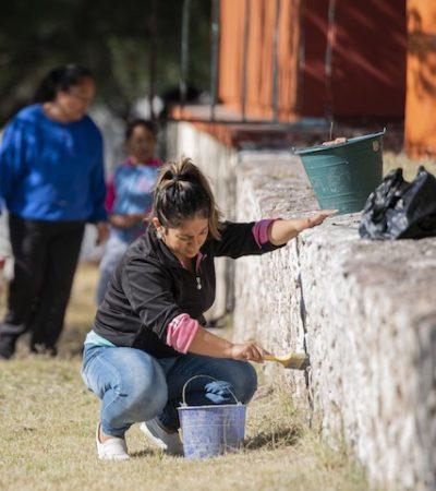 Continúan las faenas educativas en las comunidades de El Marqués