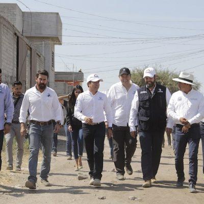 Amplían red de drenaje y agua potable en la colonia José Ma. Truchuelo