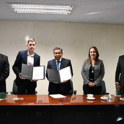 Firman convenio UTEQ y KOSTAL Mexicana