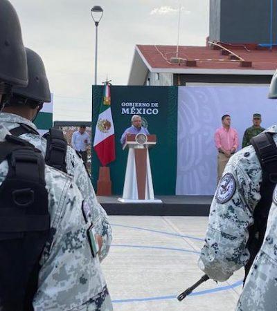 Sean incorruptibles, exhorta AMLO a Guardia Nacional
