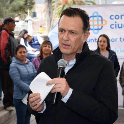 Mauricio Kuri en aislamiento voluntario tras contacto con Gobernador