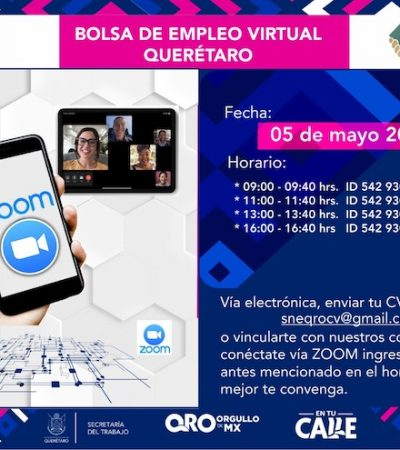Querétaro lanza estrategia de Bolsa de Trabajo Virtual