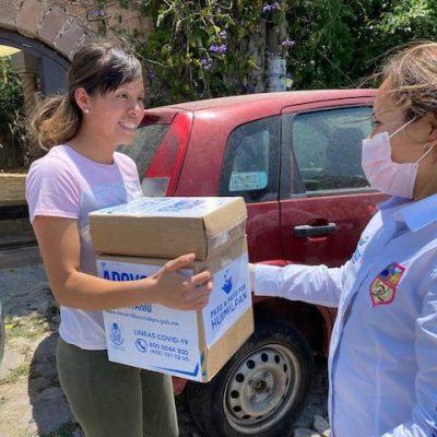 Inicia entrega de apoyos alimentarios en Huimilpan