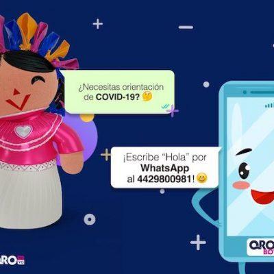 Qrobot dará orientación médica vía WhatsApp