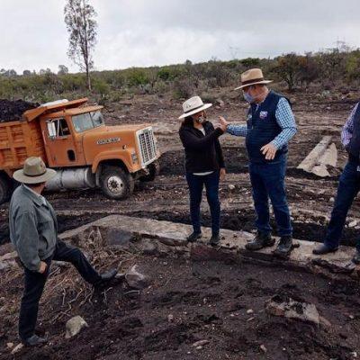 Huimilpan trabaja en prevención de inundaciones