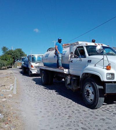 Distribuyen agua potable en comunidades de Huimilpan