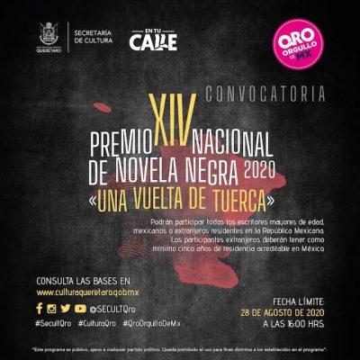 Convocatoria Premio Nacional de Novela Negra