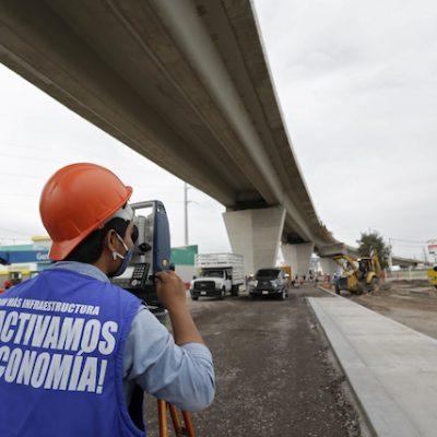 Avanzan obras del Viaducto Poniente