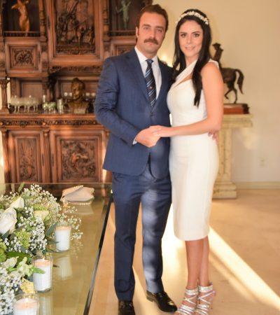 Boda Civil de Humberto Palacios y Silvia Elena Díaz de León