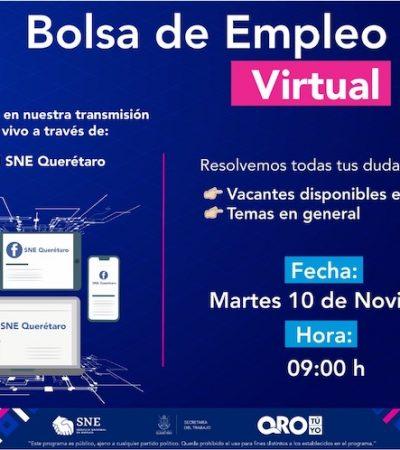 Ofertan plazas laborales en Querétaro y SJR