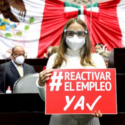 María Aleman presentó plan de reactivación económica