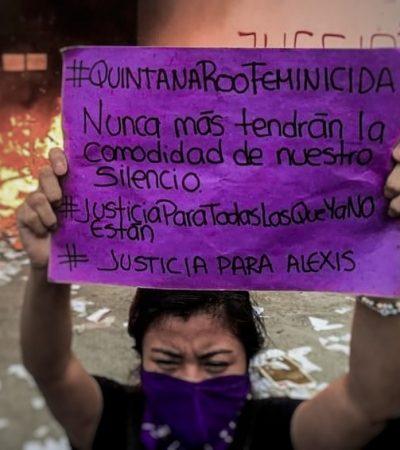 Sigue investigación sobre violencia de género contra manifestantes en Quintana Roo