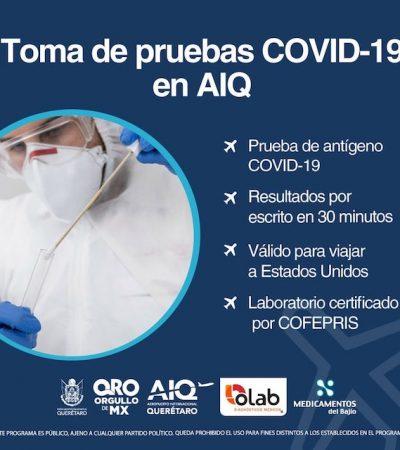 AIQ contará con servicio de pruebas COVID-19