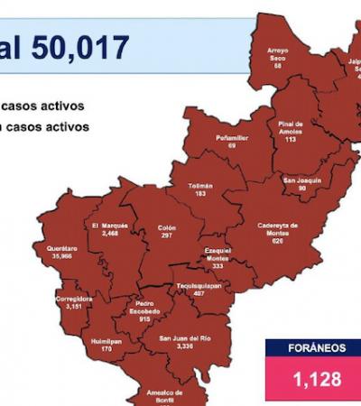 Querétaro supera los 50 mil casos de COVID-19