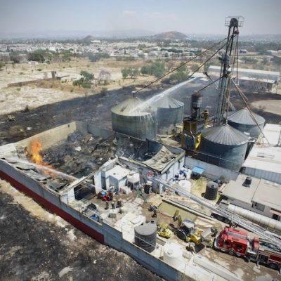 Controlado incendio en Zona Industrial Balvanera