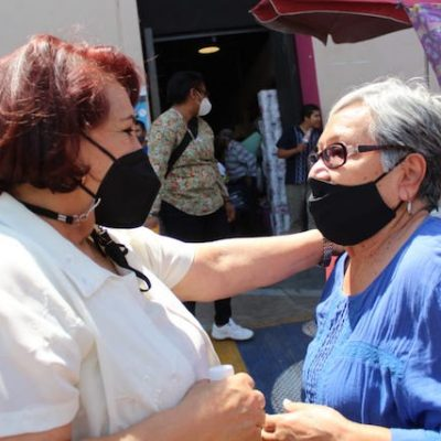 Vamos a mejorar las condiciones de los comerciantes en Querétaro: Celia Maya
