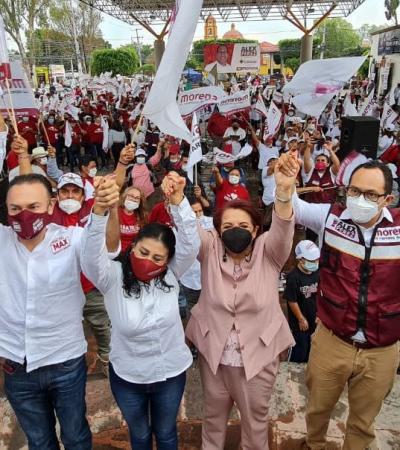 El PAN ofrece dinero, MORENA ofrece justicia: Celia Maya