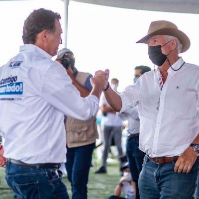 Mauricio Kuri y Enrique Vega cierran campaña en El Marqués