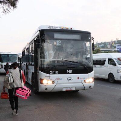 Implementan operativo de regreso a clases en el transporte público