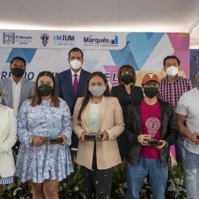 Entregan el Premio Municipal a la Juventud El Marqués 2021