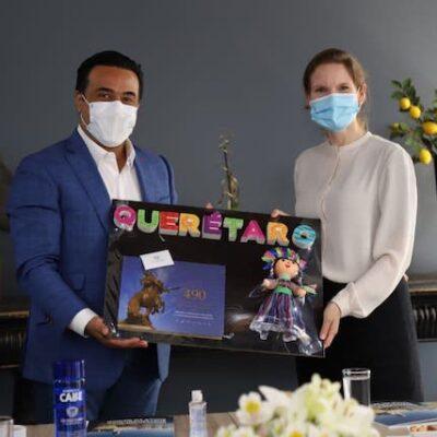 Se reúne Luis Nava con representante de la Embajada de Suecia en México