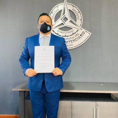 Recibe nombramiento nuevo titular de la Comisión Estatal del Sistema Penitenciario