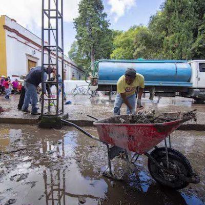 El Marqués continua trabajos de limpieza de viviendas afectadas por las lluvias
